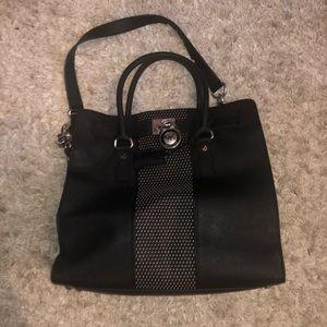 Michael Kors Hamilton Bag —Black and Silver